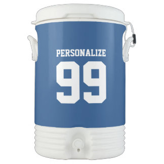 Custom 5 gallon sports drink cooler with spigot