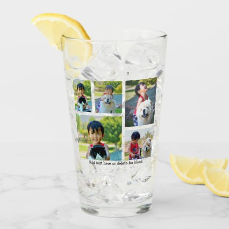 Custom 5 Photo Keepsake Collage Glass
