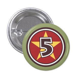 Custom 5 Star Pinback Button