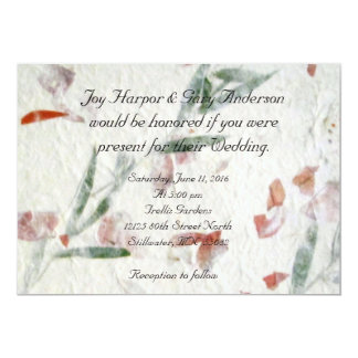 Custom 5 x 7 Garden Wedding Invitation