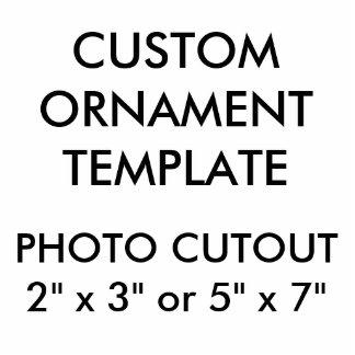 "Custom 5"" x 7"" Photo Cutout Christmas Ornament"
