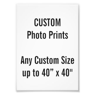 "Custom 5"" x 7"" Photo Print (US Frame Size)"