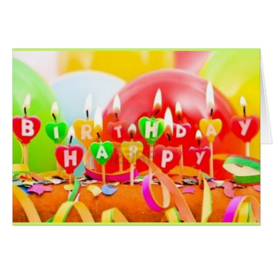 Custom 5x7 Happy Birthday Recycled  Greeting Cards
