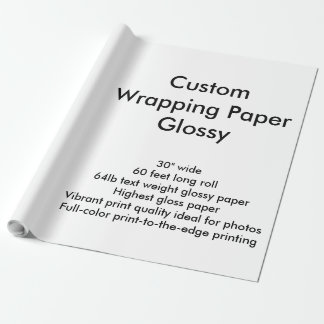 Custom 60' Glossy Wrapping Paper Roll