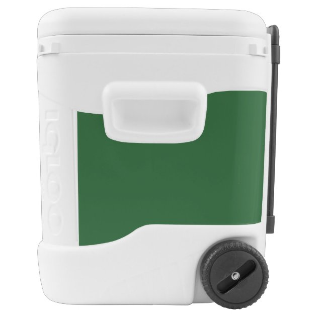 Custom 60 quart wheeled cooler with jersey number | Zazzle