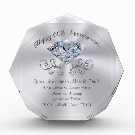 60th Wedding Anniversary Ideas: 60th Anniversary Gifts On Zazzle