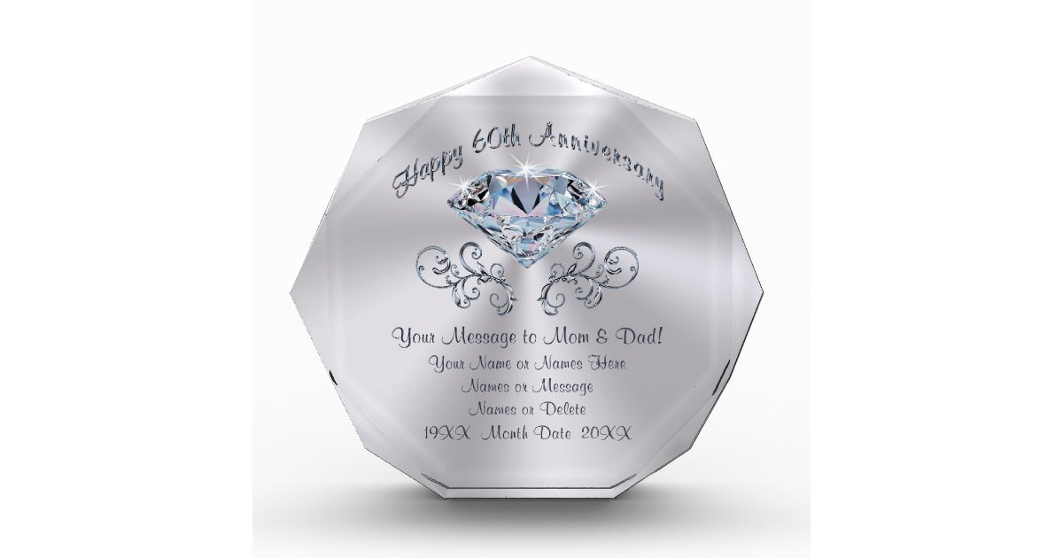 Custom 60th Anniversary Gift Ideas for