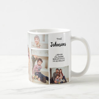 Custom 6 Family Photo Collage Coffee Mug