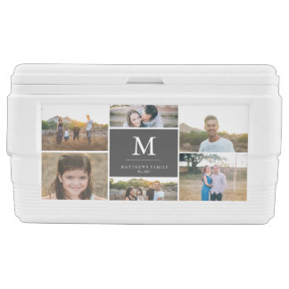 Custom 6 Photo Collage Chest Cooler