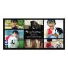 Custom 6 Photo Collage Christmas Personalized Photo Card