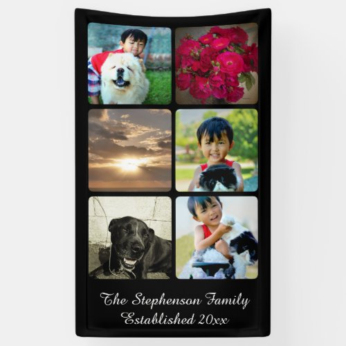 Custom 6 Photo Collage Vertical Mosaic Picture Banner