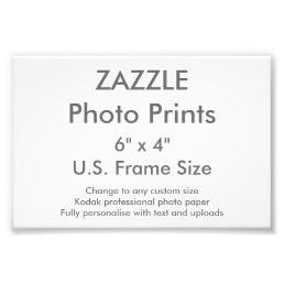 "Custom 6"" x 4"" Photo Print (US Frame Size)"