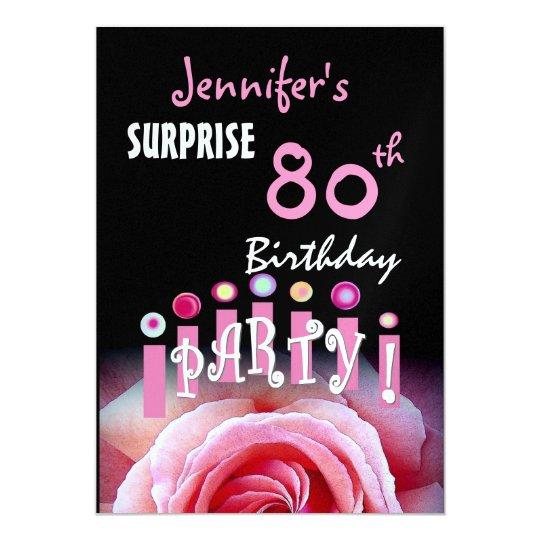 Custom 80th SURPRISE Birthday Party Invitation