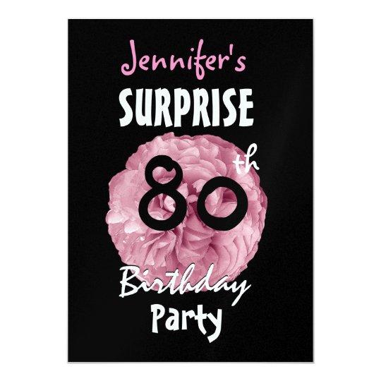 Custom 80th Surprise Birthday Party Invitation Zazzle Com