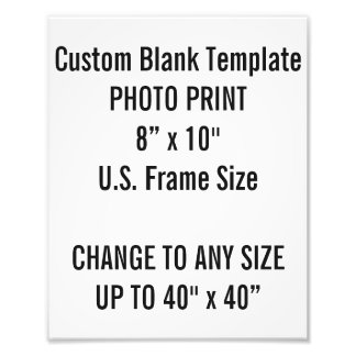 "Custom 8"" × 10"" Photo Print (US Frame Size)"