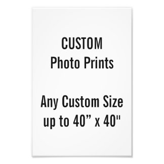 "Custom 8"" × 12"" Photo Print (US Frame Size)"