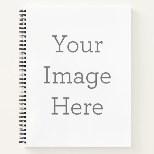 "Custom 8.5"" x 11"" Hardcover Spiral Notebook"
