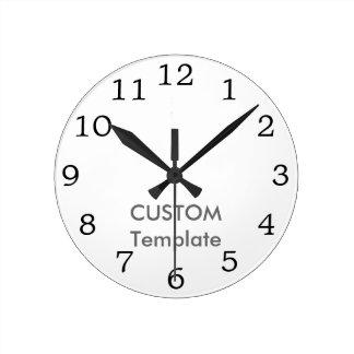 """Custom 8"""" ROUND Wall Clock MATT ANT. RO"""