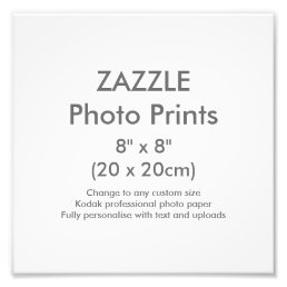 "Custom 8"" x 8"" Square Photo Print Template"