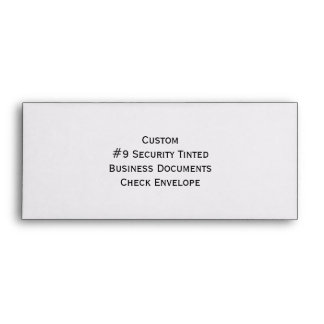 Custom #9 Security Tinted Business Check Envelopes