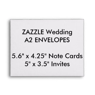 "Custom A2 Envelopes 5.6"" x 4.25"" Note Cards"