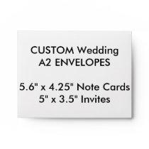 "Custom A2 Envelopes 5.6"" x 4.25"" Note Cards"