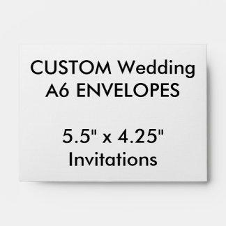 "Custom A6 Envelopes 5.5""x4.25"" Invitations"
