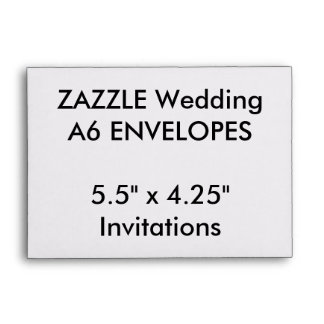 "Custom A6 Envelopes 5.5""x4.25"" Invitations"