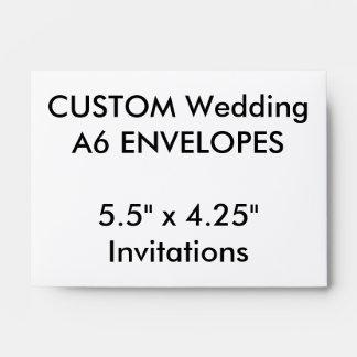"Custom A6 Envelopes 5.5"" x 4.25"" Invitations"