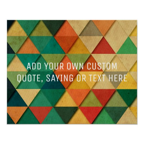 Custom Abstract Add your own Text  Quote Poster