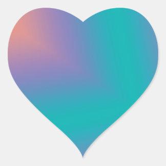 Custom Abstract Design Heart Sticker
