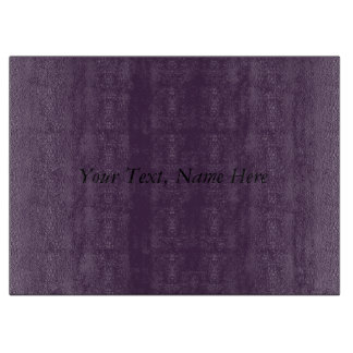 Custom Acai Violet Your Text, Name, Address Here Cutting Board