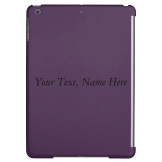 Custom Acai Violet. Your Text, Name, Address Here iPad Air Covers