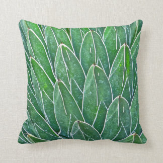 CUSTOM ACCENT THROW PILLOW WITH AGAVE PLANT