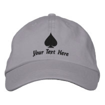 Custom Ace of Spades hats for poker players & more