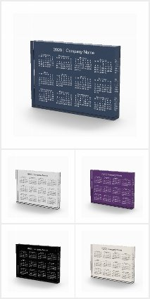 Custom Acrylic Block 2020 Desk Calendars