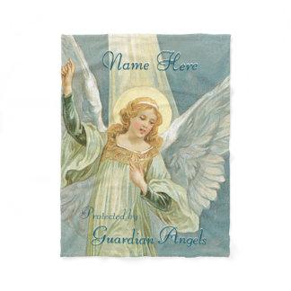 Custom Add Name Guardian Angel Blanket