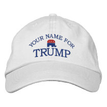 Custom Add Name or State to support Donald Trump Embroidered Baseball Cap