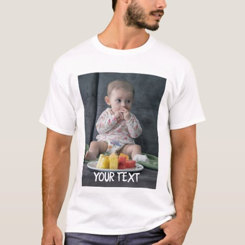 Custom Add Photo and Text Personalized T_Shirt