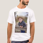 "Custom. Add Photo and Text. T-Shirt<br><div class=""desc"">Create your own unique t-shirt! Add a photo of your choice,  and whatever text you wish. Stand out from the crowd!</div>"