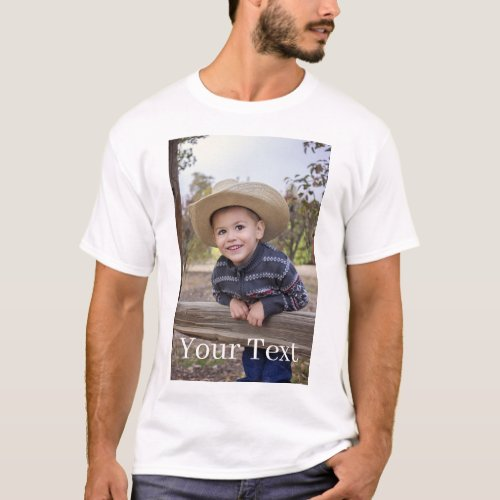 Custom Add Photo and Text T_Shirt