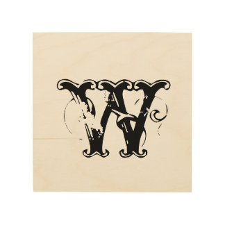 Custom add your initial weddin personalize monogra wood wall art