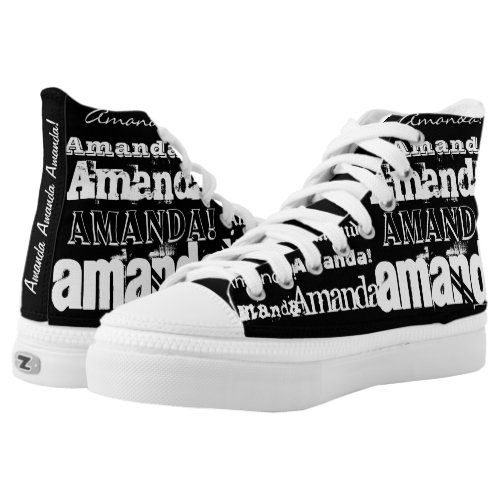 CUSTOM Add Your Name High_Top Sneakers