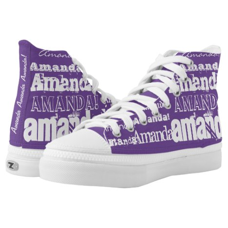 CUSTOM Add Your Name! High-Top Sneakers