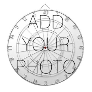 Custom Add Your Own Photo or Text Dartboard
