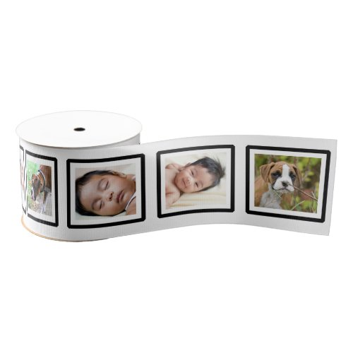 Custom Add Your Own Photos Photo in Frame Ribbon