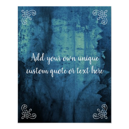 Custom Add your own textquote Elegant Vintage Poster