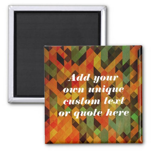 Custom Add Your Own Text  Quote Magnet