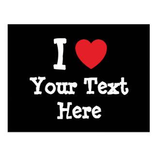 custom add your text shirt design postcard