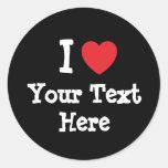 custom add your text shirt design round stickers